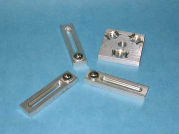 KINEMATIC PLATFORM, FIVE PIECE SET, WITH A THREADED TOP PLATE AND A THREE BAR PLATFORM BASE